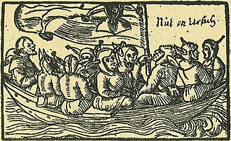 Ship of fools - The ship of fools, depicted in a 1549 German woodcut