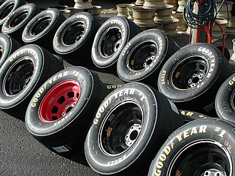 Tire wars - Goodyear has been the official tire supplier of NASCAR since 1954.