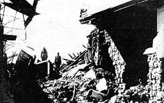 Nasib al-Bakri - Al-Bakri's home after its destruction by the French during the nationwide revolt of 1925