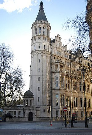 National Liberal Club - View of the club from the Thames Embankment