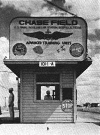 Naval Auxiliary Air Station Chase Field entrance in 1959.jpg