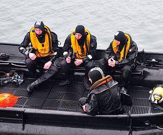 Irish Naval Service - Members of the Naval Service Diving Section