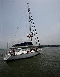 INSV <i>Tarini</i> sloop of the Indian Navy