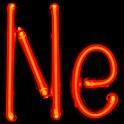 """Neon-Gasentladungslampen als Formelzeichen für Neon """"Ne"""""""