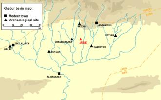 Chagar Bazar - Chagar Bazar position in the Khabur River basin