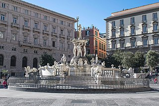 fountain in Naples, Italy