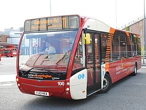 Network Warrington - Optare Versa at Warrington Bus Interchange in May 2013