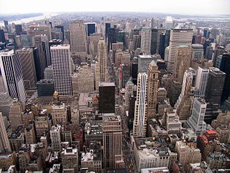 Urban geography - New York City, one of the largest urban areas in the world