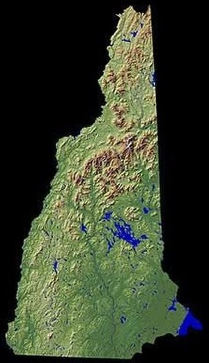 New Hampshire - Shaded relief map of New Hampshire