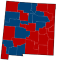 New Mexico Senate Election Results by County, 2012.png