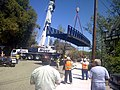 New pedestrian bridge last major phase of Corps' Napa Creek project (8643316605).jpg