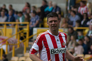 Niall Quinn - Quinn playing in Jody Craddock's testimonial, 2014