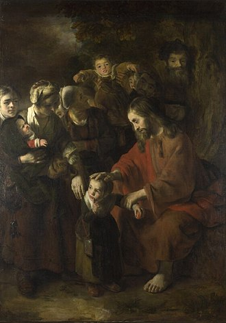 Nicolaes Maes - Image: Nicolaes Maes Christ Blessing the Children WGA13814