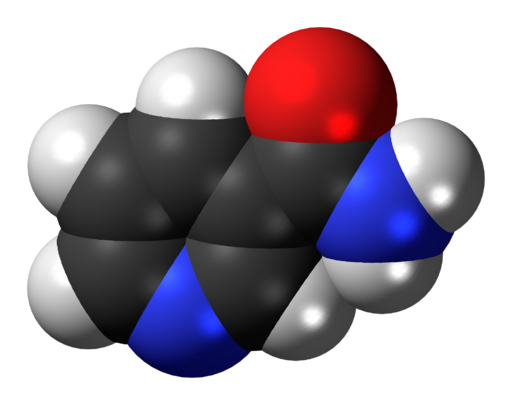 Nicotinamide 3D spacefill