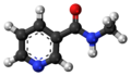 Nicotinyl methylamide 3D ball.png