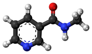 Nicotinyl methylamide - Image: Nicotinyl methylamide 3D ball