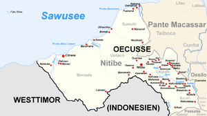 The Suco Suniufe is located in the northeast of the administrative office of Nitibe.