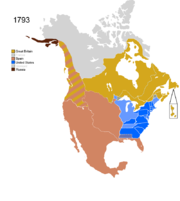 Map showing Non-Native Nations Claim_over NAFTA countries c. 1793