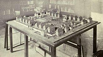 Norman Cross - Model of Norman Cross by M. Foulley in the Musée de l'Armée, Paris. Photographed in 1913.