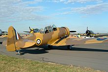 North American Harvard II restored in desert camouflage.jpg