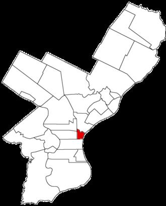 Northern Liberties, Philadelphia - Image: Northern Liberties Dist 1854