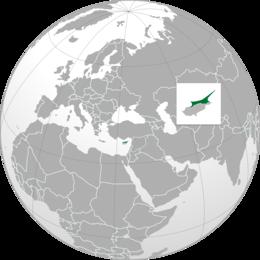 Cipro del Nord - Localizzazione