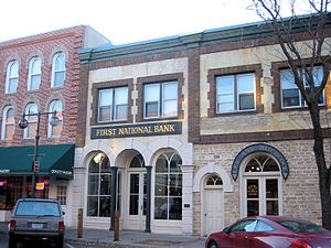 Northfield, Minnesota - The First National Bank building in Northfield, site of the attempted robbery.