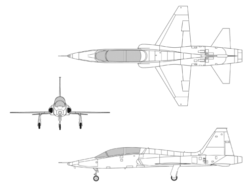 Northrop T-38A Talon 3-side view
