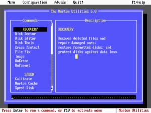 Norton Utilities - Norton Utilities 6.0 for DOS