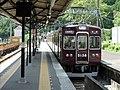 Noseden 5138 at Myōkenguchi Station.jpg