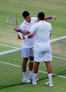Tsonga and Djokovic embrace post their match.