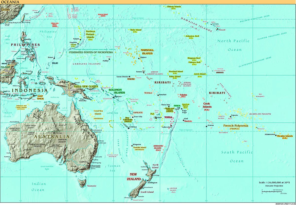 Europeans In Oceania Wikipedia - Political map of oceania