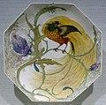 Octagonal plate by J. Jurriaan Kok (form) & W. P. Hartgring (decoration), Haagsche Plateelbakkerij, Rozenburg, Den Haag, 1909-12, porcelain - Hessisches Landesmuseum Darmstadt - Darmstadt, Germany - DSC00814.jpg