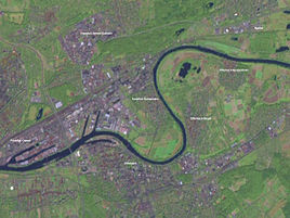 Satellite view of Offenbach.