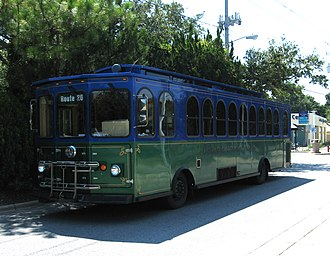 Fort Walton Beach, Florida - Okaloosa County Transit Trolley, July 2011.
