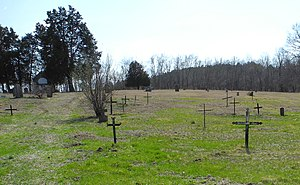 Old Mines, Missouri - Crosses of wrought iron in St. Joachim Cemetery
