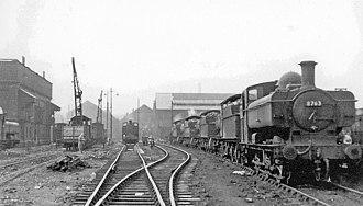 Old Oak Common TMD - Steam locomotives near the coaling plant, September 1956
