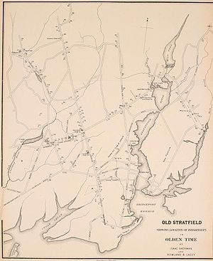 Bridgeport, Connecticut - Colonial Stratfield, c.1886 map