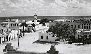 Islam in Djibouti - The Al Sada Mosque in Djibouti City in the 1940s