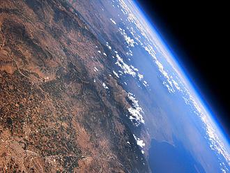 Mount Olympus - Stratospheric view of Mount Olympus
