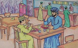 Omani cuisine - Omanis in a restaurant
