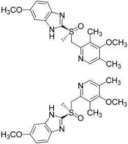 Struktur von Omeprazol