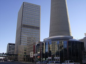 One Palliser Square - One Palliser Square is the building to the left of the base of the Calgary Tower