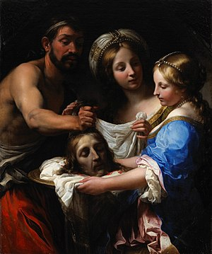 Onorio Marinari - Onorio Marinari, Salome with the head of John the Baptist, 1680.