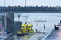 Openingsceremonie van de 3e kolk van de Beatrixsluis het eerste schip dat de kolk uit vaart is de RWS 59 Ingenieur Josephus Jitta ID511874.jpg