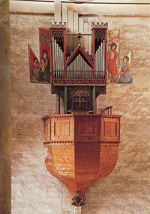 Swallow's nest organ - The oldest playable swallow's nest organ, built in 1435 and situated in the Notre-Dame de Valère basilca
