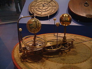 Orrery - A small orrery showing earth and the inner planets