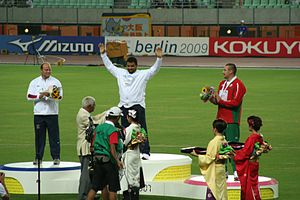 2007 World Championships in Athletics – Men's shot put - Victory ceremony
