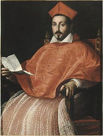 Scipione Borghese - Image: Ottavio Leoni Retrato del cardenal Scipione Borghese, Ajaccio Museo Fesch