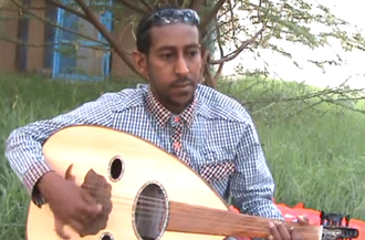 Music of Somalia - Somali oud player Nuruddin Ali Amaan.